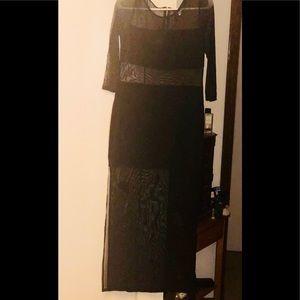 H&M long black w/mesh dress.